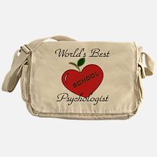 Worlds Best Teacher Apple psych Messenger Bag