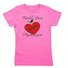 Worlds Best Teacher Apple psych Girl's Tee