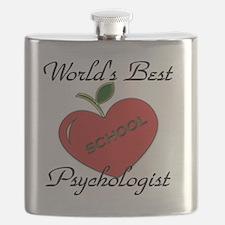 Worlds Best Teacher Apple psych Flask