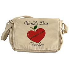 Worlds Best Teacher Apple kind Messenger Bag