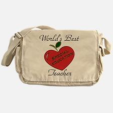 Worlds Best Teacher Apple special  Messenger Bag