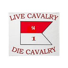 1st Squadron 14th Cavalry cap4 Throw Blanket