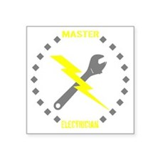 "Master Electrician (Pocket  Square Sticker 3"" x 3"""