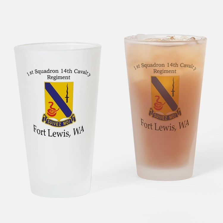1st Squadron 14th Cavalry Drinking Glass