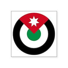 "7x7-Roundel-Royal_Jordanian Square Sticker 3"" x 3"""