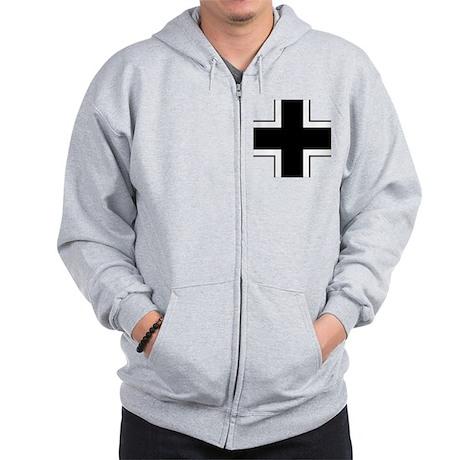 10x10-Balkenkreuz Zip Hoodie