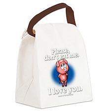 pleasedonteatme_darkshirt Canvas Lunch Bag