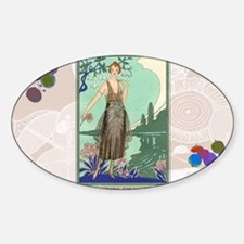 6 JUNE BONNOTTE - SIRENE Sticker (Oval)