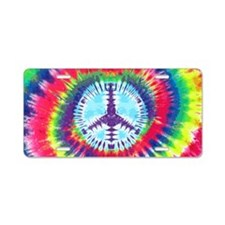 Spiral Peace Laptop Aluminum License Plate