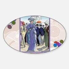 10 OCT BRISSAUD HOW BEAUT AT SEA Sticker (Oval)