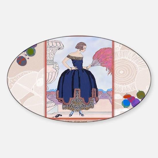 2 FEB BARBIER PAVANE Sticker (Oval)