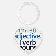 imsoadjective_lightshirt Heart Keychain