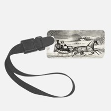 11x17_MiniPosterPrint_winterRoad Luggage Tag