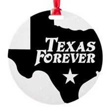 state-texas-forever-star-black Ornament