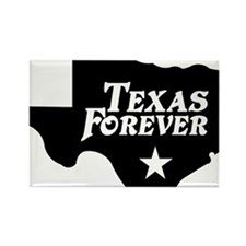 state-texas-forever-star-black Rectangle Magnet