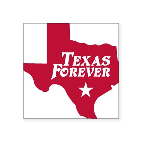 "state-texas-forever-star-re Square Sticker 3"" x 3"""