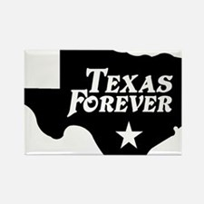 state-texas-forever-star-black-cu Rectangle Magnet