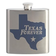 state-texas-forever-star-blue-cutout Flask