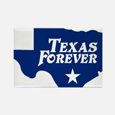 state-texas-forever-star-blue-cut Rectangle Magnet