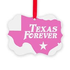 state-texas-forever-star-pink-cut Ornament