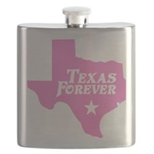 state-texas-forever-star-pink-cutout Flask