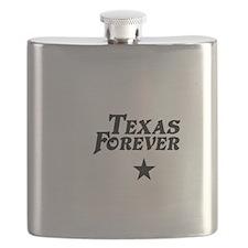 state-texas-forever-star-white-black Flask