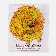 LionZion_flames_300ppi Throw Blanket