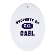 Property of cael Oval Ornament