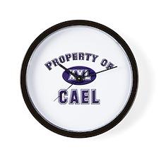 Property of cael Wall Clock