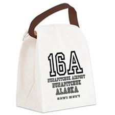 AIRPORT CODES - 16A - NUNAPITCHUK Canvas Lunch Bag