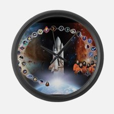 L Columbia Tribute Large Wall Clock