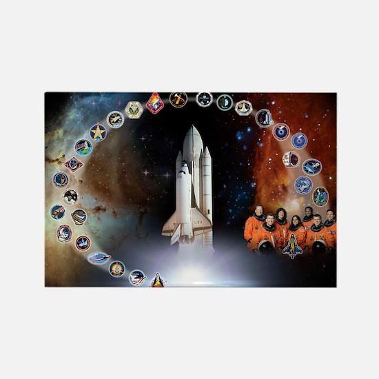L Columbia Tribute Rectangle Magnet