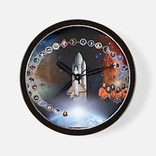 L Columbia Tribute Wall Clock