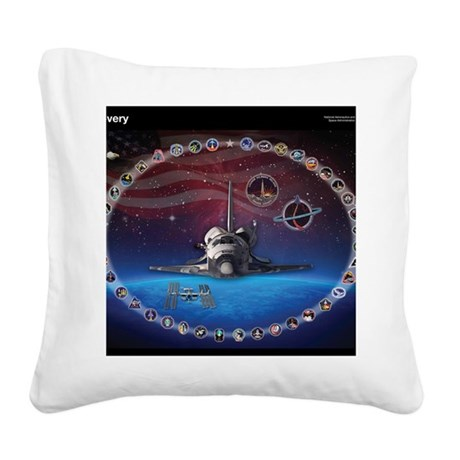 L Discovery Tribute Square Canvas Pillow