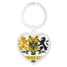 Nijmegen (Flag 10) Heart Keychain