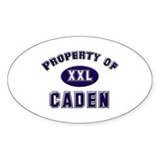 Property of caden Oval Decal