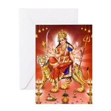 maa-durga-5 Greeting Card