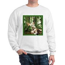 Fairy & Cat in Moss Forest Sweatshirt