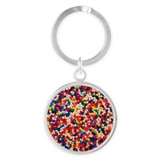 candy-sprinkles_ff Round Keychain