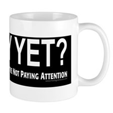 Sorry Yet - black background Mug