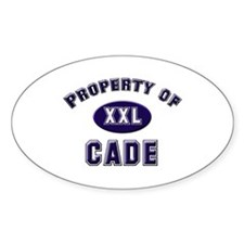 Property of cade Oval Decal