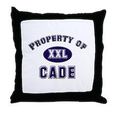 Property of cade Throw Pillow