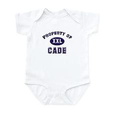Property of cade Infant Bodysuit