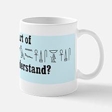 WPO hieroglyphs bumper sticker Mug