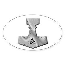 Steel Hammer Oval Bumper Stickers