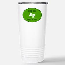 DeafDogIntepreterLogo Travel Mug