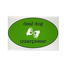 DeafDogIntepreterLogo Rectangle Magnet
