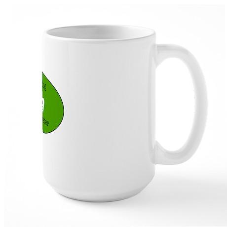 DeafDogIntepreterLogo Large Mug