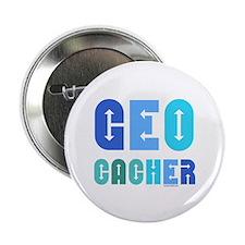 "Geocacher Arrows Blue 2.25"" Button"