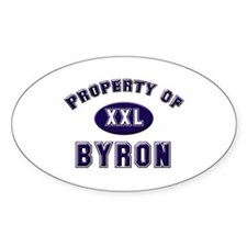 Property of byron Oval Decal